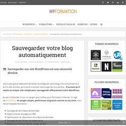 Sauvegarder WordPress avec BackWPup
