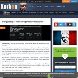 BorgBackup - Vos sauvegardes dédupliquées