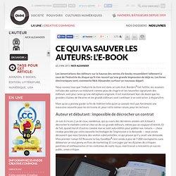 l'e-book va sauver les auteurs