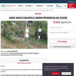 Aidez-nous à sauver le jardin potager du Val Fleuri