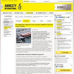 Sauvetage des migrants en mer : pourquoi l'opération Triton est vouée à l'échec ?