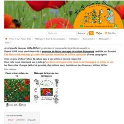 Jardin de sauveterre, producteur de graines bio de fleurs sauvages