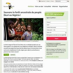 Sauvons la forêt ancestrale du peuple Ekuri au Nigéria