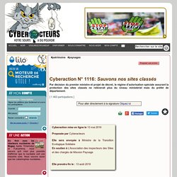 Sauvons nos sites classés cyberaction