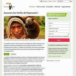 Sauvons les forêts de Papouasie