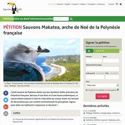 SauvonsMakatea, arche de Noé de la Polynésie française