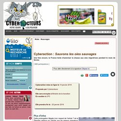 Sauvons les oies sauvages cyberaction