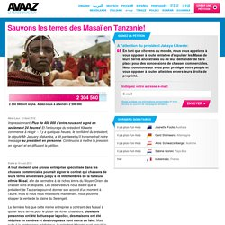 Sauvons les terres des Masaï en Tanzanie!