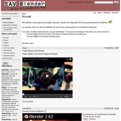 SAV Blender, tutoriels vidéos
