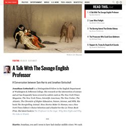 A Talk With The Savage English Professor