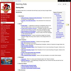 savagepedia - Gaming Aids