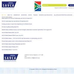 SAVCA media releases « SAVCA