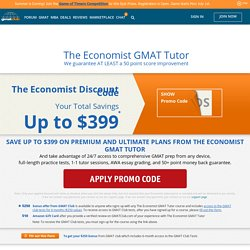 Save up to $399 on The Economist GMAT Tutor