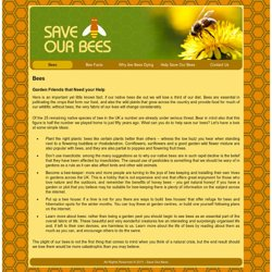 The Save Our Bees Campaign for National Science and Engineering