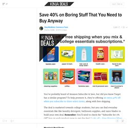 Save 40% on Boring Stuff That You Need to Buy Anyway