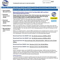 Save as DAISY - Microsoft Word Add-In | DAISY Consortium
