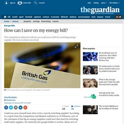 How can I save on my energy bill?