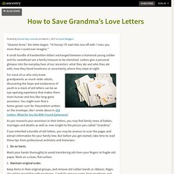 How to Save Grandma's Love Letters – Ancestry Blog