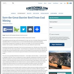 Save the Great Barrier Reef From Coal Mining