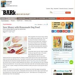 Save Money with Homemade Dog Food