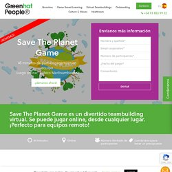 Save the Planet Game - Green Hat People