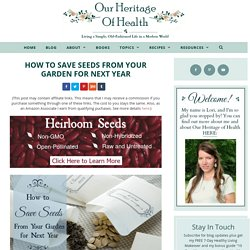 How to Save Seeds from Your Garden for Next Year