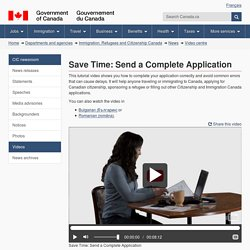Save Time: Send a Complete Application