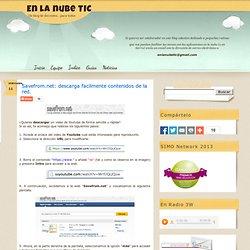 Savefrom.net: descarga facilmente contenidos de la red.