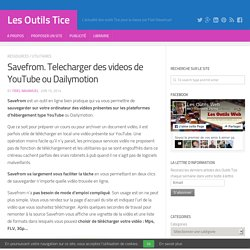 Savefrom. Telecharger des videos de YouTube