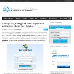 SaveMyInbox, sauvegarde automatique de vos pièces jointes Gmail dans Dropbox