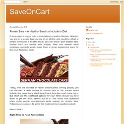 Protein Bars – A Healthy Snack to Include in Diet