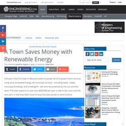 A Town Saves Money with Renewable Energy
