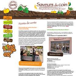 Saveurs du Coin - Les points de vente