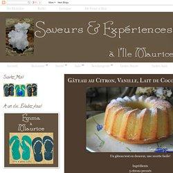 Gâteau au Citron, Vanille, Lait de Coco & Rhum