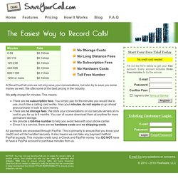 Pricing - SaveYourCall.com - Record Calls. Record Phone Conversations. Cell Phone Record. Record Conversations. Record Cell Phone Calls