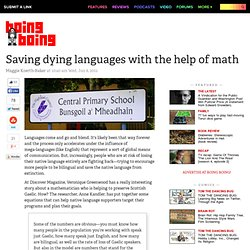 Saving dying languages with the help of math