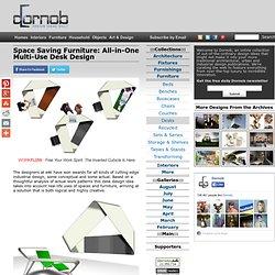 Space Saving Furniture: All-in-One Multi-Use Desk Design