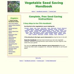Seed Saving Handbook: Learn How to Save Seeds From Common Garden Vegetables—Free!