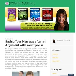 Saving Your Marriage after an Argument with Your Spouse