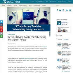 5 Time-Saving Tools for Scheduling Instagram Posts