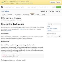Byte-saving Techniques - GitHub