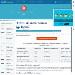 SBI Savings Account Interest Rates