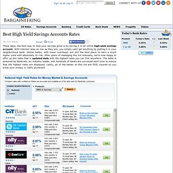 Best High Yield Savings Accounts Rates