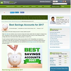 Best Savings Accounts for 2017