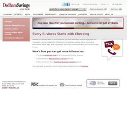Dedham Savings Business Checking