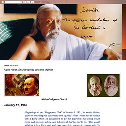 Adolf Hitler, Sri Aurobindo and the Mother