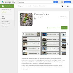En savoir Skate – Applications Android sur Google Play