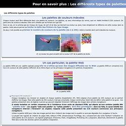 Les différents types de palettes