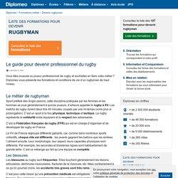 Tout savoir sur le métier de rugbyman professionnel