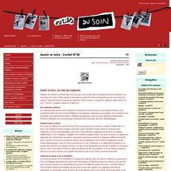 Savoir se taire - Cordel N°34 - Les outils du soin